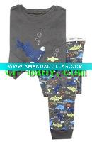 children/kid/baby Long Sleeve Lovely fish printed pictures pajamas/sleepwear