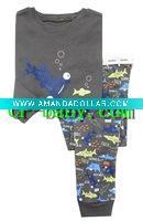 children/kid/baby Long Sleeve Lovely fish printed pictures pajamas/sleepwear