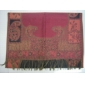 Jacquard weaving scarves shawls butterfly design fancy color ladies' fashionable accessories