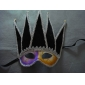 Elaborate Venetian Mask With Silver Glitter For Mardi Gras Or Masquerade Style Event