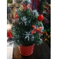 Christmas gifts Potted christmas tree with cherry 20cm height 9bnn29
