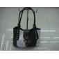 2010 Fashion black and white PU leather fresh women's handbags 9c8n02