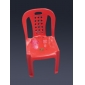 value red plastic chair for children, high quality