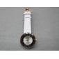 2010 Promotional Newly design decorative fashion nobler electronic wrist watch with white PU watchband