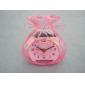 2010 Promotional newly design decorative cartoon vivid color transparent plastic electronic mini alarm clock