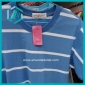 Good Men's blue and white section casual T-shirt on sale
