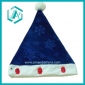 2010 newest style blue cotton polyester christmas cap&hat