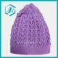 Lovely Ladies Purple Warm Short Skull Beanie Knitted Hat Caps