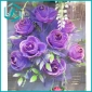 12pcs purple artificial flower bouquet made of plastic and textile