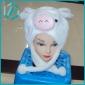 2010 lovely pig new style plush animal hats