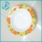 Promotional Plastic Top Quality Dish with Colour Round Printed/serving trays
