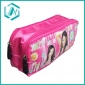 Latest fabric two zippers pencil case with fashion design