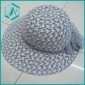 lady's grey cotton yarn fasionable design straw hat