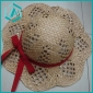children's lovely style sun straw hat with red tie aound