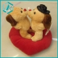 Kids preferred Lovely PP cotton plush two bears toy, 20*20cm