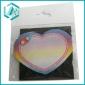 Red heart style self-adhesive memo pad