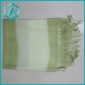 Light grass green color sacrf, 100% cashmere material for lady winter use