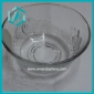 Wholesale low price round floral clear glass candy bowl