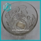 Wholesale low price round floral clear glass candy bowl (50*100mm)