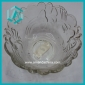 Wholesale low price round floral clear glass candy bowl (60*120mm)