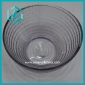 Wholesale low price round strip clear glass candy bowl