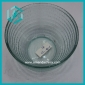 Wholesale low price round strip pale green glass candy bowl