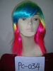 one dollar Fasion party queen's necessities multicolors Remy Hair wig