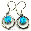 Fashion lower cost opal earring silver jewelry DR00571E Accept pay By Paypal