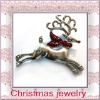 hot selling festival christmas deer alloy brooch jewelry gift