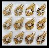 GP0109 Gold Fused Glass Pendant