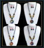 hottest murano glass necklace and earring set