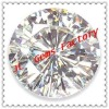 AAA grade white round-shaped cz gems
