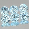 Round Blue loose synthetic diamond
