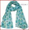 rectangular printed polyester scarf
