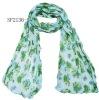 rectangular polyester scarf