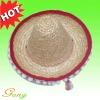 100% natural Straw Sombrero hat
