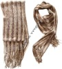 Gold Wool Color Scarf 180x50cm