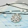fashion crystal button brooch