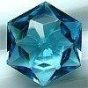 Deep blue hexagon shaped cz pendant