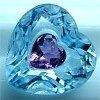Heart shaped deep blue cz gems