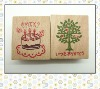 craft wooden rubber stamp