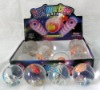 Flashing bouncing ball with 3D fish