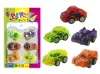 pull back car toys,plastic pull back toys,toy car(printed cartoon on the car)