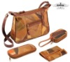 patchwork leather bag set