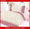 Popular sweet floret jacquard cotton fabric 4pcs comforter set