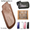 Promotional Fashion leather cell phone case