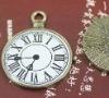 Wholesale costume anitque Vintage Bronze Clock metal charm pendant