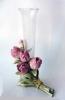 polystone glass vase