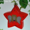 glass christmas tree hanging ornament