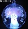 christmas ball with fiber angel inside